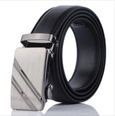 NATA-19 Valentine's Gift Casual Mens Leather Belts Automatic Belt Buckle black 3.8*120