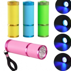 Hot Mini LED UV Gel Curing Lamp Light Professional Dryer Fast Cure Nail Flashlight Beautiful Women pink as picture