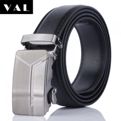 NATA-16 Valentine's Gift Casual Mens Leather Belts Automatic Belt Buckle black 3.8*120