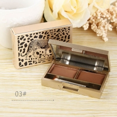 2 Colors Brow Powder Set Eyebrow Shadow Tattoo Makeup Waterproof Wax Paint Tin 05