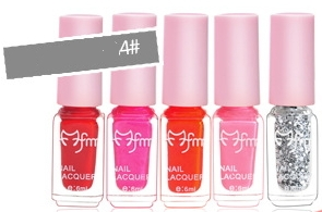 4 Pieces  Pretty Candy Colorful Polish Candy Color Nail Polish 04 23g