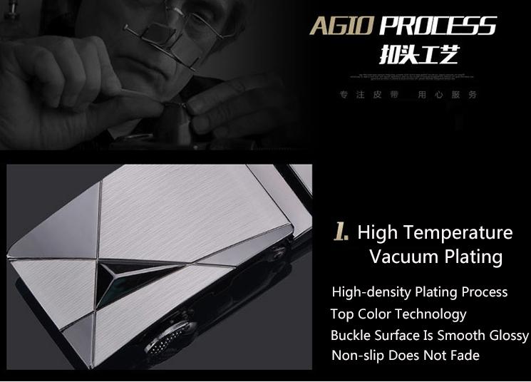 NATA-15 Automatic Buckle Cowhide Leather men belt Fashion Luxury belts for men black 3.8*120 4