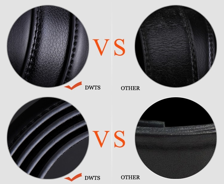 NATA-15 Automatic Buckle Cowhide Leather men belt Fashion Luxury belts for men black 3.8*120 8