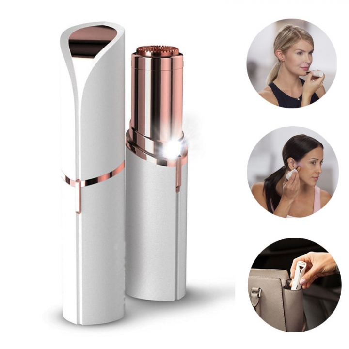 Lipstick Women Electric Shaver Finishing Touch Flawless Hair Remover Facial Hair Removal as picture