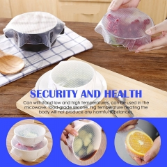 Silicone Food Wrap Reusable Seal Cover Wholesale Quality Stretch Fresh Keeping Kitchen Tools as picture 30CM*30CM(1PC)