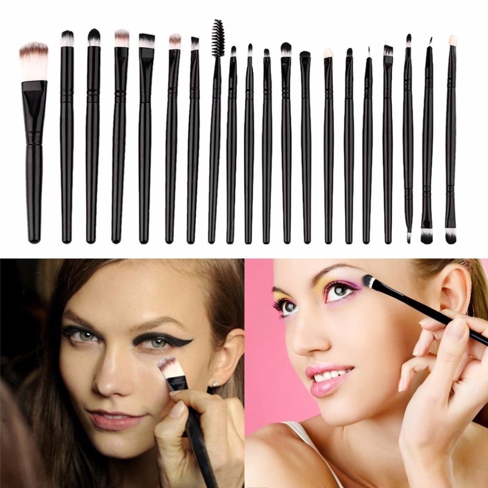 20 Pieces/lot Makeup Brushes Women Face Eyes Make up Sets & Kits Cosmetic Tool pink&gold 3