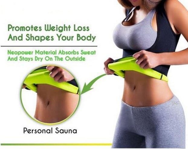 Women Neoprene Sleeveless U Shape Shapers Slimming Fat Burning Fitness Body Shapewear Tank Top Waist black M