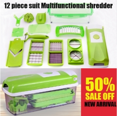 12 in 1 Multi-functional Grater Vegetable Cutter Sets Food Container Shredders Slicers sets as picture as picture