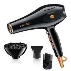 Hairdryer Hairdryers 2500W High Quality EU Plug Professional Salon Ionic Technology Black As picture black as picture