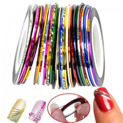 30pcs Rolls Striping Tapes Colorful Line Nail Stickers DIY Nail Art Kit Manicaure Beauty decorations as picture as picture