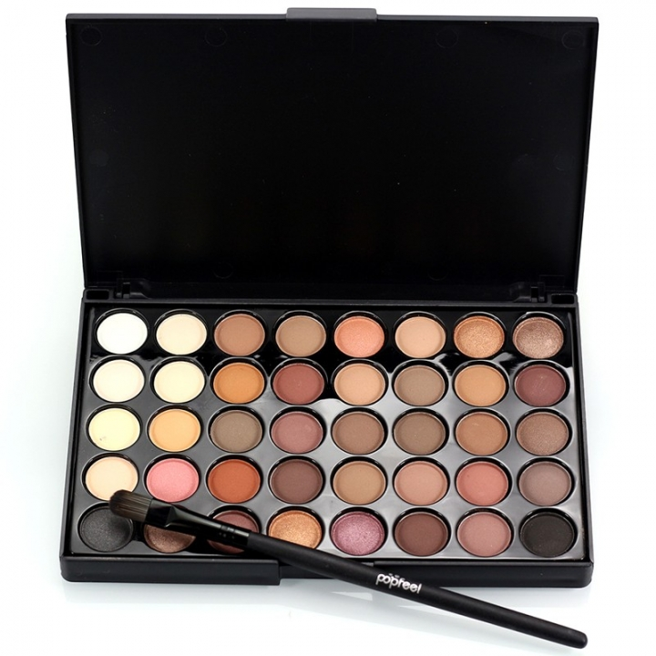 40 Colors Waterproof Make Up Eye Shadow Matte Glitter Pigments Nude Eyeshadow as picture