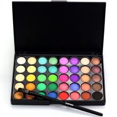 40 Colors Waterproof Make Up Eye Shadow Matte Glitter Pigments Nude Eyeshadow 2# as picture