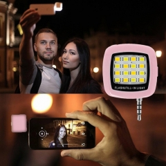 Portable Rechargeable 16 Selfie Flash LED Camera Lamp Light For iPhone 6 6s Samsung HTC LG as picture as picture