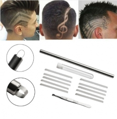 High Quality Shaver Salon Engraved Pen Stainless Steel Hair Styling Eyebrows Beard as picture as picture