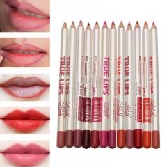 12pcs Pencil Lip Liner Pencil Waterproof Pencils Lipliner Pen Makeup Cosmetic Tools as picture