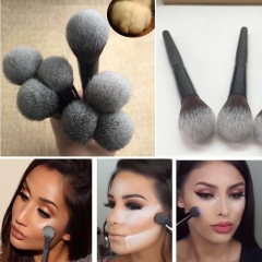 1pcs Black Wood Handle Beauty Face Brush Foundation Brushes Single Makeup Brushes as picture