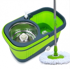 Household Spinning Mop Bucket Hand Press 360 Degrees Spin Dry Magic Mop Rotating Mop Cleaning Bucket as picture as picture