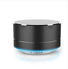 Wireless Bluetooth Speaker Stereo Mini Portable Speakers MP3 MINI Subwoof Smart Loudspeaker BLACK 3w A2