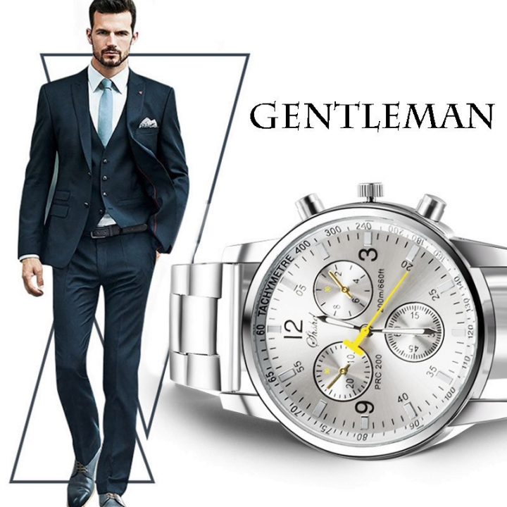 2018 New Mens Watches Top Luxury Brand Watch Men  Fashion Male Hours Business Quartz Watch WHITE AS PIC
