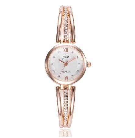Wrist Watches For Women Alloy Strap Bracelet Watch Elegant Rhinestone Quartz Watch Orologio Donna 1