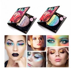 6 Colors Rainbow Highlighter Powder Eyeshadow Palette New Brand Women Blush Make Up 01