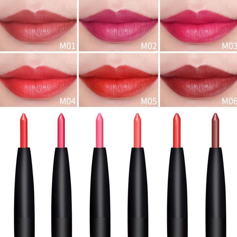 6 Color/SET Professional Waterproof Long-lasting Lip Liner Pencil Set Lipliner  Cosmetic as picture 1