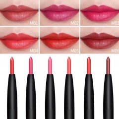 12 pcs 6 Color/SET Professional Waterproof Long-lasting Lip Liner Pencil Set Lipliner Cosmetic as picture