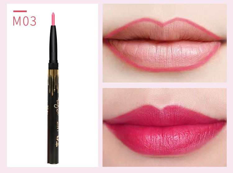 6 Color/SET Professional Waterproof Long-lasting Lip Liner Pencil Set Lipliner  Cosmetic as picture 11
