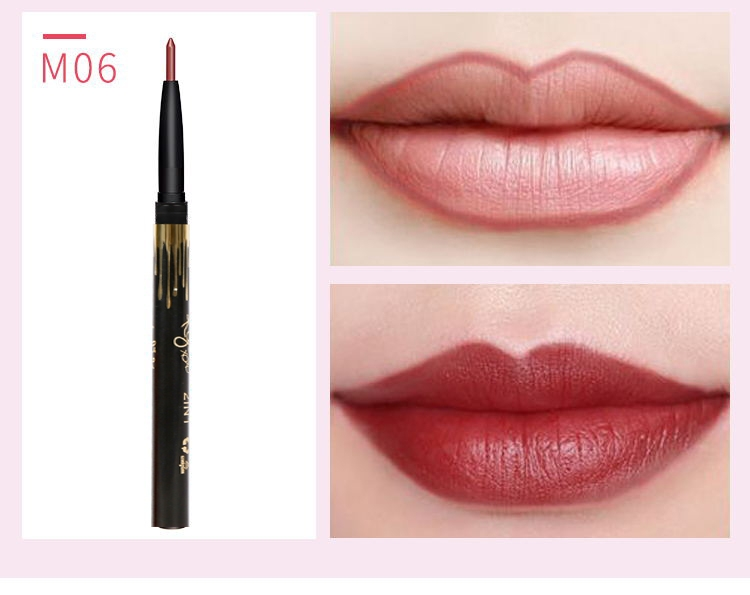 6 Color/SET Professional Waterproof Long-lasting Lip Liner Pencil Set Lipliner  Cosmetic as picture 8