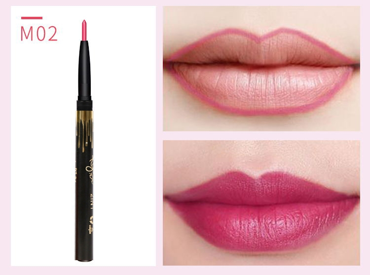 6 Color/SET Professional Waterproof Long-lasting Lip Liner Pencil Set Lipliner  Cosmetic as picture 10