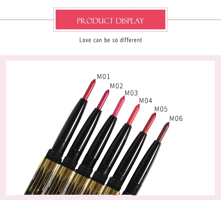 6 Color/SET Professional Waterproof Long-lasting Lip Liner Pencil Set Lipliner  Cosmetic as picture 13