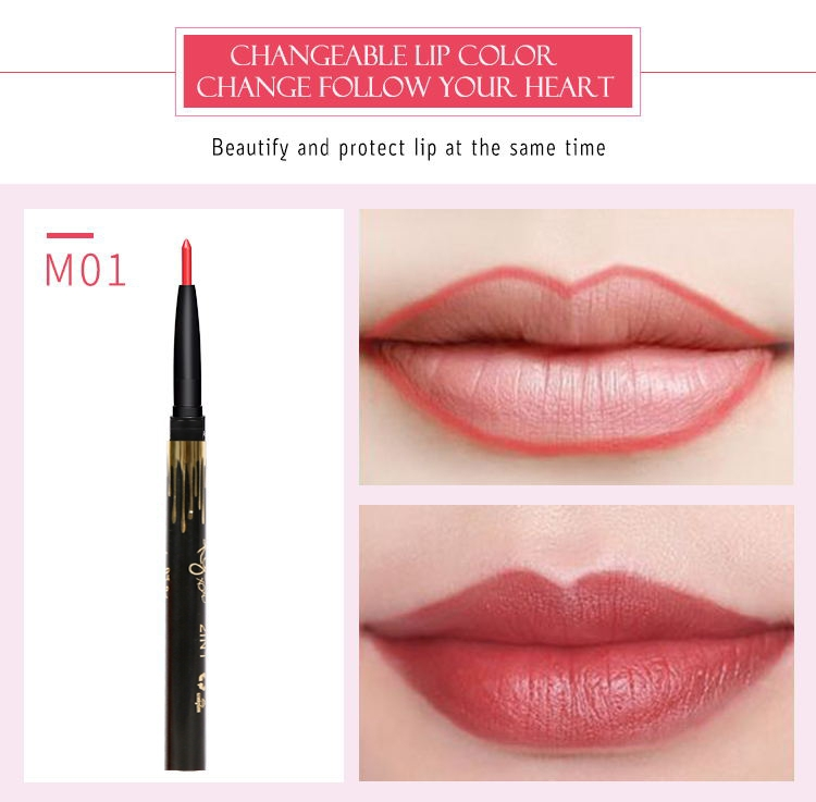 6 Color/SET Professional Waterproof Long-lasting Lip Liner Pencil Set Lipliner  Cosmetic as picture 7