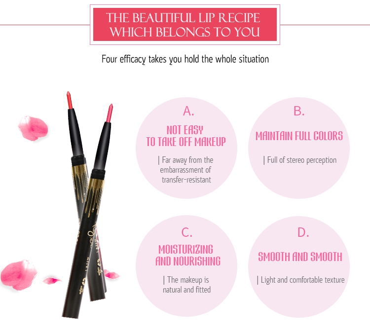 6 Color/SET Professional Waterproof Long-lasting Lip Liner Pencil Set Lipliner  Cosmetic as picture 3
