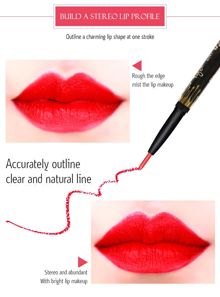 6 Color/SET Professional Waterproof Long-lasting Lip Liner Pencil Set Lipliner  Cosmetic as picture 5