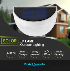 LED Solar Power Panel lights 6 LED Light Sensor Waterproof Outdoor Fence Garden Pathway Wall Lamp as picture as picture