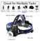 LED headlamp fishing headlight  XML-T6 Zoomable lamp Waterproof Head Torch flashlight Head lamp only head lamp as picture