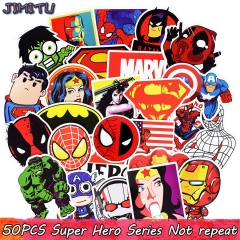 50pcs  Stickers  Kids Toy Sticker for Luggage Laptop Skateboard Motorcycle  Waterproof Sticker mix
