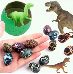 5pcs/lot Dinosaur Eggs Action Figure Add Water Cracks  Growing Egg Kids Education Toy RADOM AS PICTURE