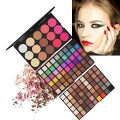 123 Color  Makeup Set Palette Matte Shimmer Eye Shadow  Pressed Powder Make Up Pallete Cosmetics Kit as picture