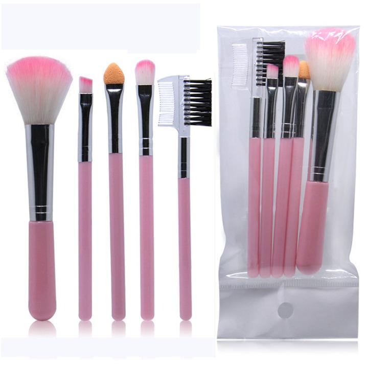 5Pcs/Lot Eye Shadow Foundation Eyebrow Eyeliner Eyelash Lip Brush Makeup Brushes Cosmetic Tool as picture