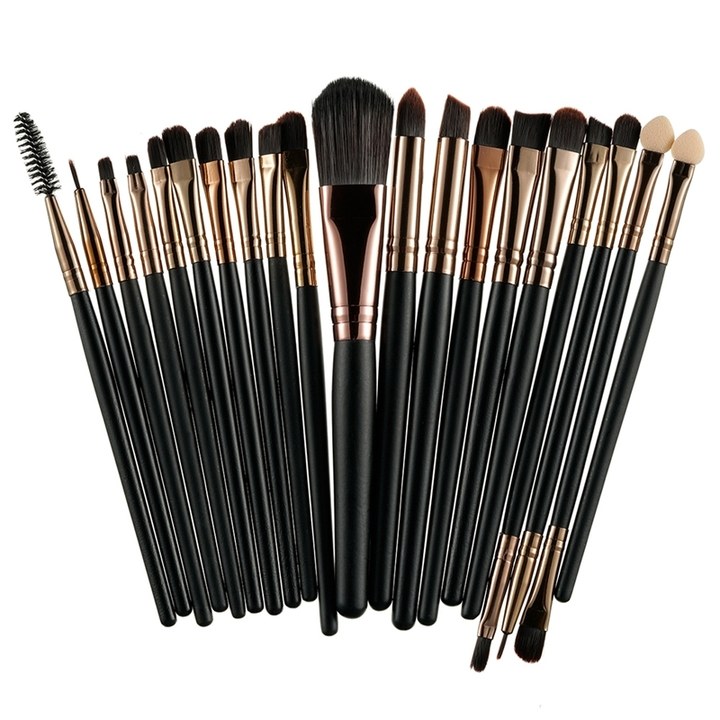 20 Pieces/lot Makeup Brushes Women Face Eyes Make up Sets & Kits Cosmetic Tool black&gold