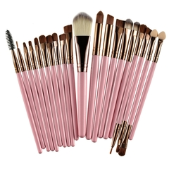 20 Pieces/lot Makeup Brushes Women Face Eyes Make up Sets & Kits Cosmetic Tool pink&gold