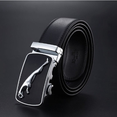 NATA-16 Automatic Buckle Cowhide Leather men belt Fashion  Luxury belts for men  high quality black 3.8*120