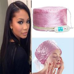 220-250V 3 strength Hair Care baking oil cap steaming hot hair salon membrane electric cap as picture