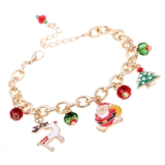Christmas Gift Charm Bracelet Pulseras Mujer Bracelet Jewelry Christmas Tree Paracord Bracelets 1 1 as picture