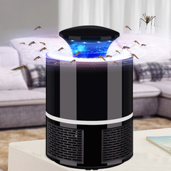 USB LED Mosquito Killer Trap Lamp Night Light Bug Lamp Mosquito Zapper Pest Killing Catcher black big 19cm tall as picture