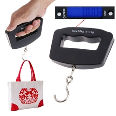 Mini Hand Held Plastic 50kg/10g LCD Digital Fishing Hanging Electronic Scale Pocket Hook Weight as picture as picture