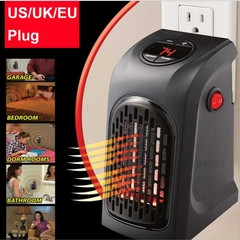 400W Mini Fan Heater Desktop Electric Heater Household Wall Heater Stove Radiator Plug-In Warmer as picture as picture