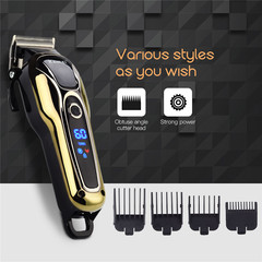 Rechargeable hair trimmer professional hair clipper hair shaving machine hair  electric razor AS picture as picture