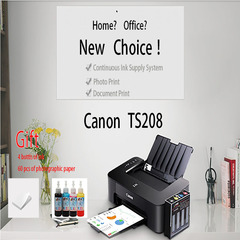 Canon TS208 Continuous Ink Supply System Photographic Photo Printer BLACK